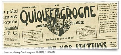 Les premiers journaux QUIQU'EN GROGNE, c'était ça !